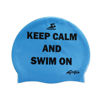 Dolfin Keep Calm Silicone Swim Cap product image
