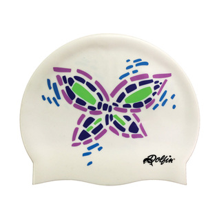 Dolfin Butterfly Silicone Swim Cap product image