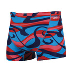Dolfin Reversible Vortex Red/Blue Square Leg Male