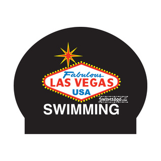 Las Vegas Latex Swim Cap product image