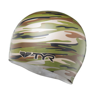 Tyr Camo Silicone Swim Cap product image