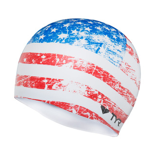 Tyr Old Glory Flag Silicone Swim Cap product image