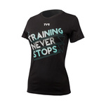 Tyr Training Never Stops Graphic Tee Female