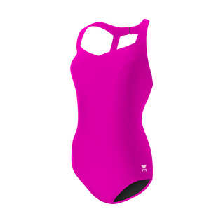 Tyr Pink Solid Halter Durafast Elite Controlfit Female product image