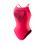 Speedo Flipturns Scribble Heart Endurance Lite Shirred Back Female
