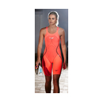 Speedo Fastskin LZR Racer X Open Back Kneeskin Female Hot Coral