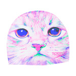 Speedo Cat Attack Silicone Swim Cap