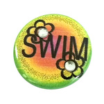 Swim Button Flower Bedazzle