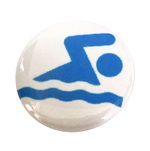 Swim Button Swimmer Wave