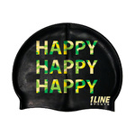 1Line Sports Happy Happy Happy Silicone Swim Cap