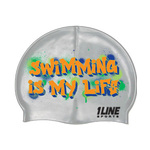 1Line Sports Graffiti Silicone Swim Cap