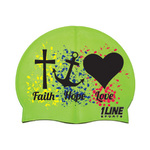 1Line Sports Faith Hope Love Silicone Swim Cap