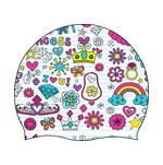 Dolfin Little Dolfins Printed Junior Silicone Swim Cap