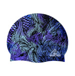 Water Gear Blue Mermaid Silicone Swim Cap