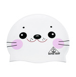 Water Gear Swim Cap WHITE SEAL