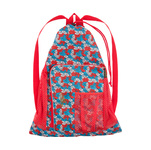 Speedo Red Bright and Blue Deluxe Ventilator Mesh Bag