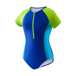 Speedo Girls Swimsuit SOLID SHORT SLEEVE