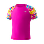Speedo Girls Rash Guard PRINTED SLEEVE