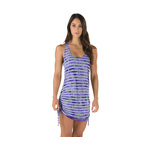 Speedo Tie Dye Stripe Shirred Tank Dress Female