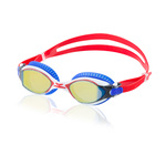 Speedo Red Bright and Blue Bullet Mirrored Swim Goggles