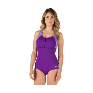 Speedo Zip Front Endurance+ Touchback One Piece Female product image