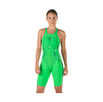 Speedo Fastskin LZR Racer X Open Back Kneeskin Female Bright Green