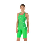 Speedo Fastskin LZR Racer X Closed Back Kneeskin Female Bright Green