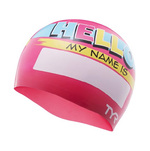 Tyr Junior Swim Cap HELLO MY NAME