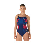 Speedo Swimsuit RED BRIGHT and BLUE WARP