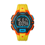 Timex IRONMAN Rugged 30 Lap Full Size Watch Yellow Color Block