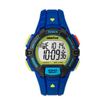 Timex IRONMAN Rugged 30 Lap Full Size Watch Blue Color Block