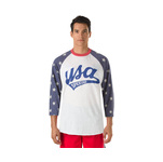 Speedo Male Vintage USA Baseball Tee