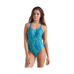 Speedo Missy Franklin Signature Series Blue/Green Splash Time Double Cross Back 1PC Female