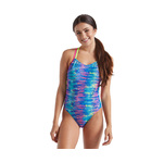 Speedo Missy Franklin Signature Rainbow Tides Double Cross Back 1PC Female