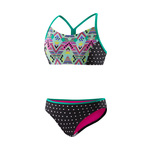Speedo Girls Diamond Geo Splice 2PC