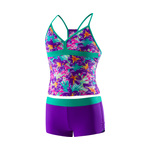 Speedo Girls Jungle Floral Boyshort 2PC