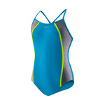 Speedo Girls Heather Splice 1PC