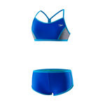 Speedo Girls Heather Splice Boyshort 2PC