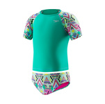 Speedo Little Girls Printed Rashguard 2PC Set