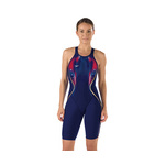 Speedo LZR Racer X Printed Kneeskin Female Navy/Red/White