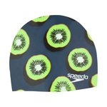 Speedo Flamingo Cocktail Silicone Swim Cap Kiwi