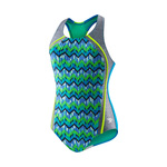 Speedo Girls Digi Zig Zag Heather Sport Splice
