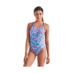 Speedo Missy Franklin Signature Series Blue/Pink Double Cross Back 1PC Female