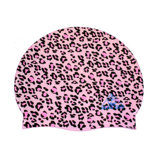 Water Gear Pink Cheetah Graphic Silicone Swim Cap product image