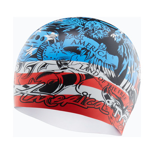 Tyr Home of the Brave Silicone Swim Cap product image