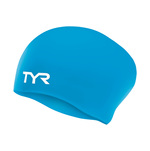 Tyr Long Hair Swim Cap WRINKLE-FREE Junior