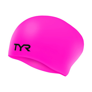 Tyr Long Hair Wrinkle-Free Silicone Junior Swim Cap product image