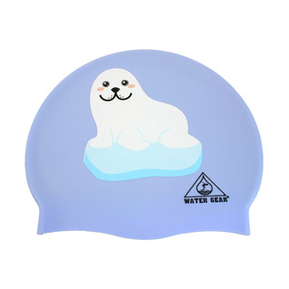 Water Gear Seal on Iceberg Graphic Silicone Swim Cap product image