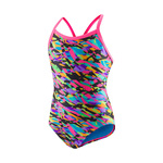Speedo Flipturns Swimsuit BLACK/HOT PINK
