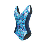 Dolfin Fitness Swimsuit IRIS BLUE V-Neck